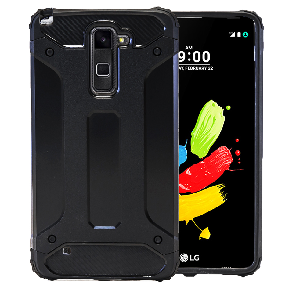 huge selection of c9709 e40ac Details about Mobile Cover Armor For LG Stylus 2 Plus LGK530F Hard Full  Cover Plain Case Back