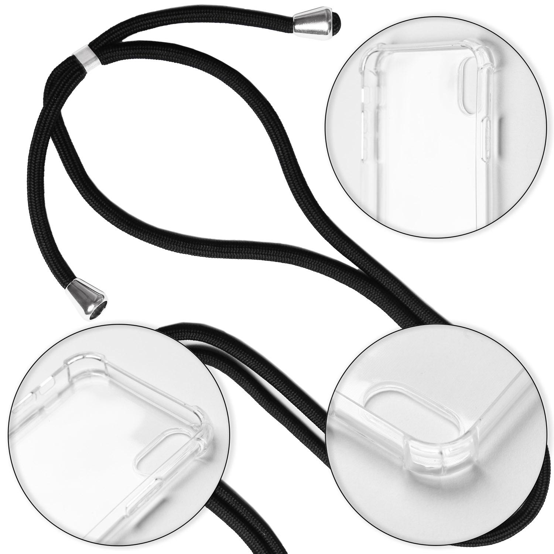 Cas-Avec-Collier-pour-Apple-iPhone-X-XS-XR-XS-Max-Protection-Chaine-Souple miniature 5
